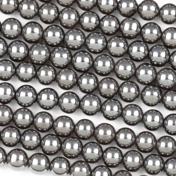 Hematite 6mm Round Beads - 15.5 inch strand