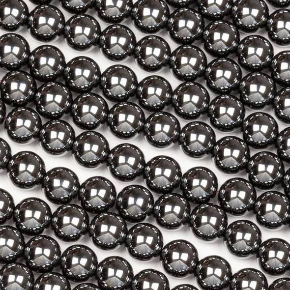 Hematite 8mm Round Beads - 15.5 inch strand