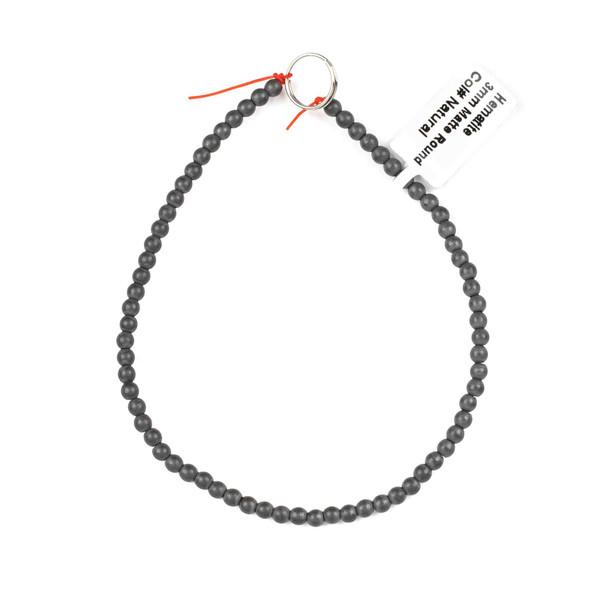 Hematite 3mm Matte Round Beads - approx. 8 inch strand