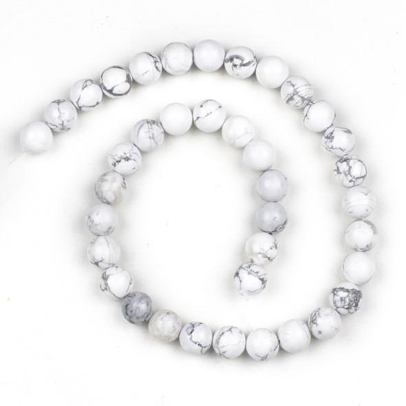 Howlite 10mm Round Beads - 15 inch strand