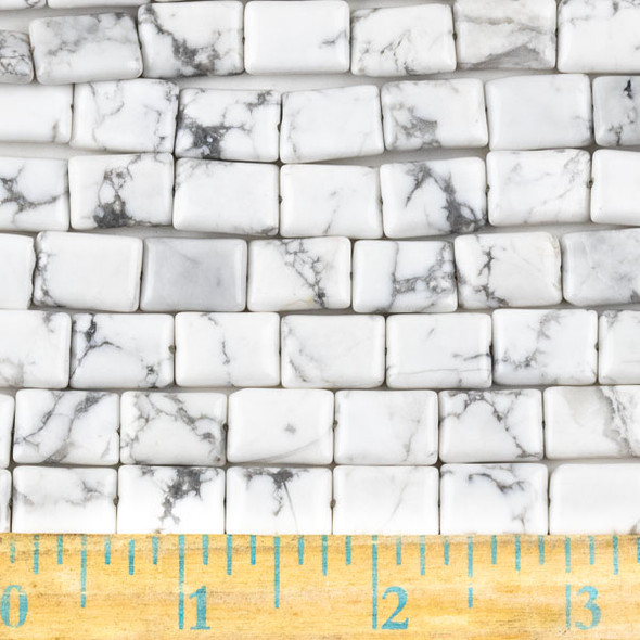 Howlite 10x14mm Rectangle Beads - approx. 8 inch strand, Set A