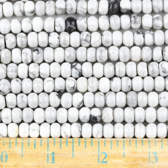 Howlite 5x8mm Rondelle Beads - approx. 8 inch strand, Set A