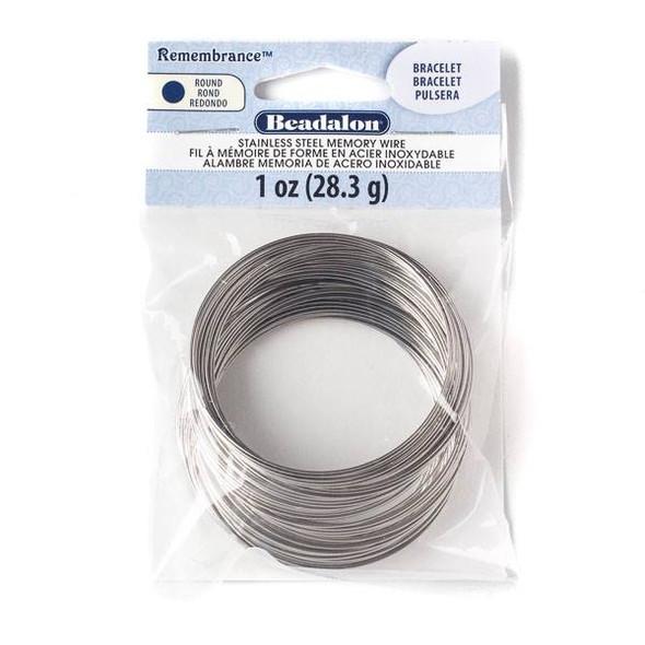 Stainless Steel Memory Wire Bracelet - 1 oz - JMBT-1Z