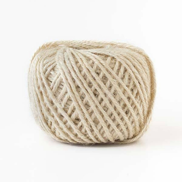 Natural Jute 1mm Beige Cord - 50 meter spool