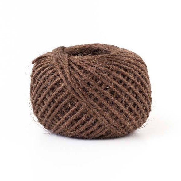 Natural Jute 1mm Brown Cord - 50 meter spool