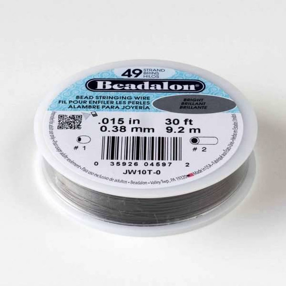 "Beadalon Stringing Wire 49 strand .015"" - 30 foot spool"