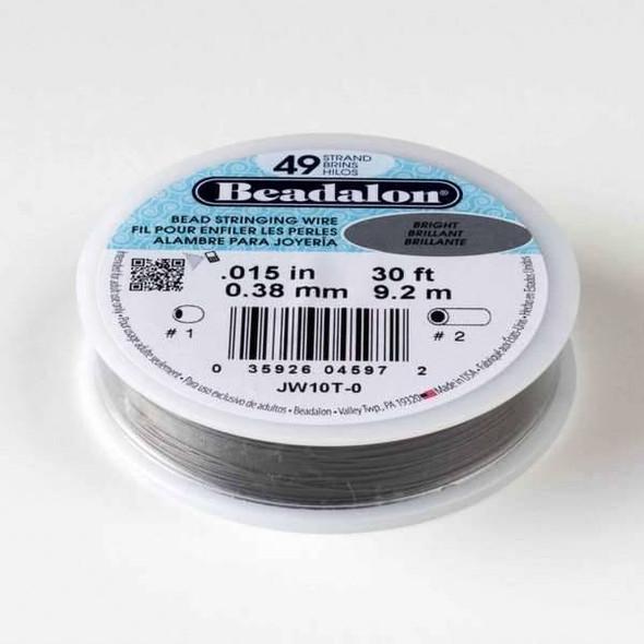"Beadalon Stringing Wire 49 strand .015"" - 30 foot spool"