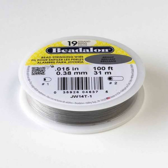 "Beadalon Stringing Wire 19 strand .015"" - 100 foot spool"