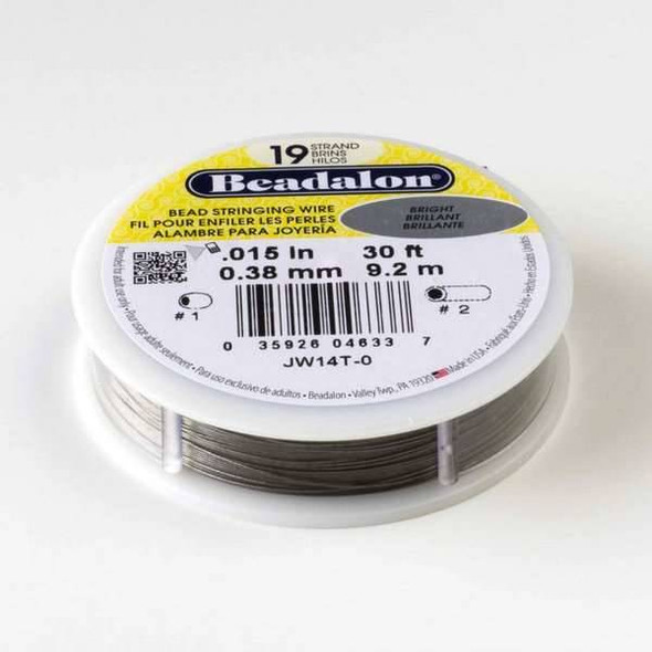 "Beadalon Stringing Wire 19 strand .015"" - 30 foot spool"