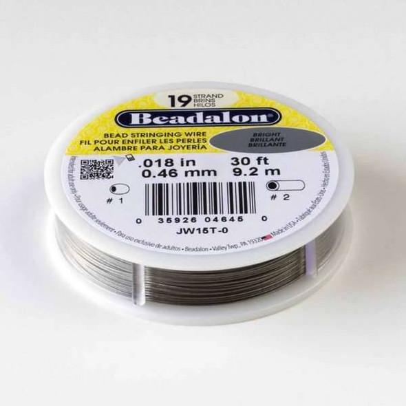 "Beadalon Stringing Wire 19 strand .018"" - 30 foot spool"
