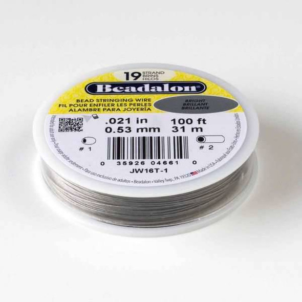 "Beadalon Stringing Wire 19 strand .021"" - 100 foot spool"