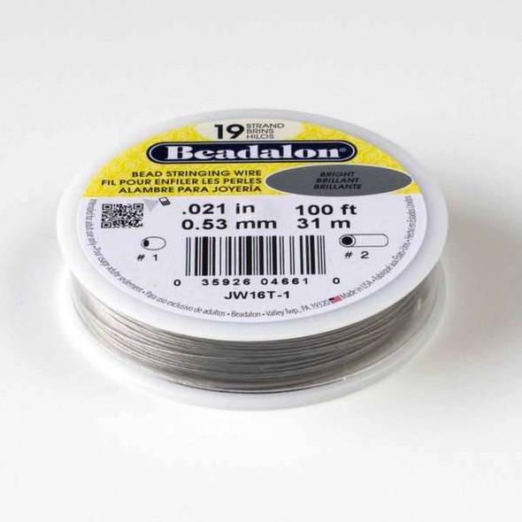 "Beadalon Stringing Wire 19 strand .021"" - 100 foot spool"