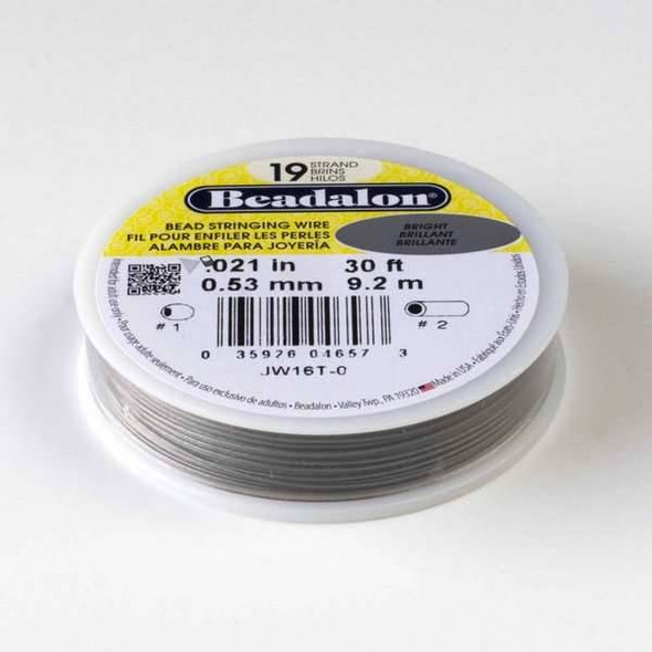 "Beadalon Stringing Wire 19 strand .021"" - 30 foot spool"