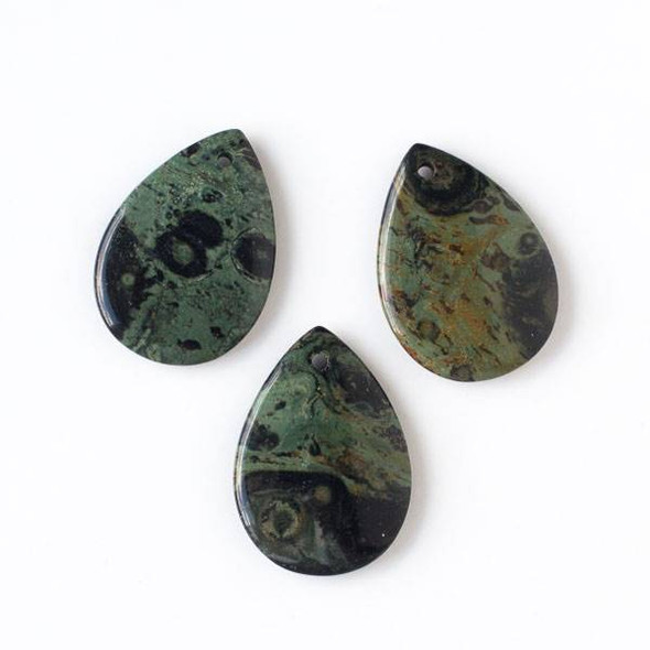 Kambaba Jasper 25x35mm Medium Teardrop Pendant