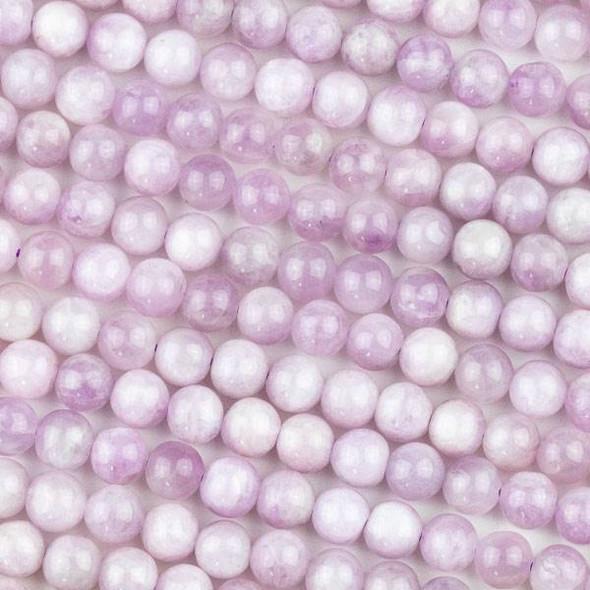 Kunzite 7mm Round Beads - 15 inch strand