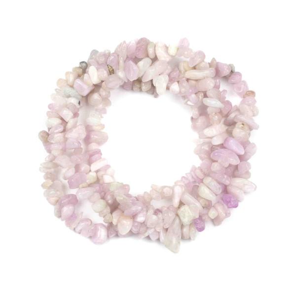 """Kunzite 5-8mm Chip Beads - 34"""" circular strand"""