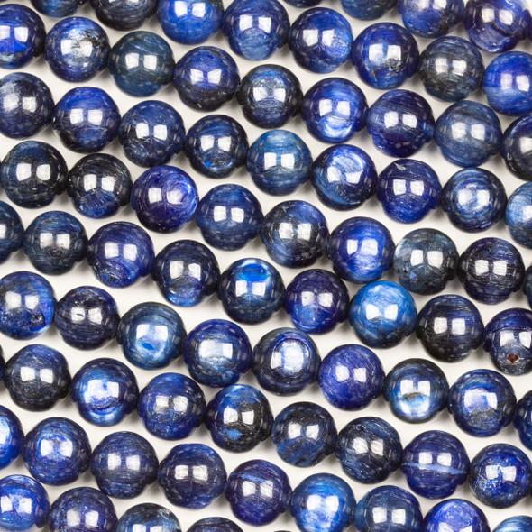 Dyed Kyanite 8mm Round Beads - 15 inch strand