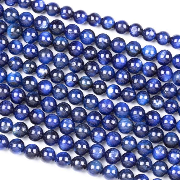 Dyed Kyanite 6mm Round Beads - 16 inch strand