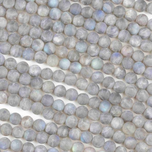 Matte Labradorite 6mm Round Beads - 16 inch strand