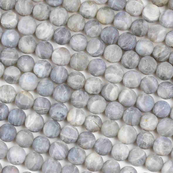 Matte Labradorite 8mm Round Beads - 16 inch strand