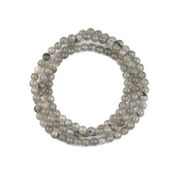Labradorite 6mm Mala Round Beads - 29 inch strand