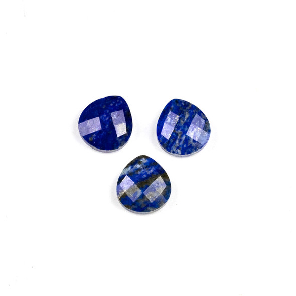 Lapis 13x14mm Top Drilled Faceted Almond Pendant - 1 per bag