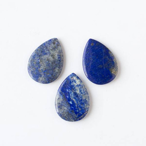 Lapis 25x35mm Medium Teardrop Pendant