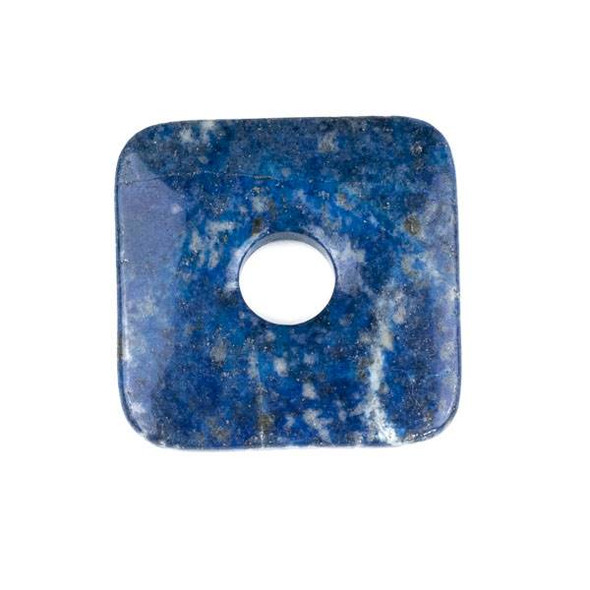 Lapis 50mm Square Donut Pendant - 1 per bag