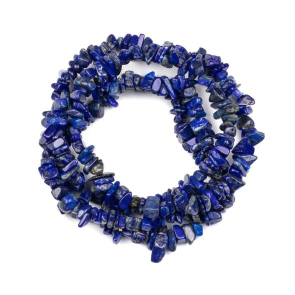 """Lapis 5-8mm Chip Beads - 34"""" circular strand"""
