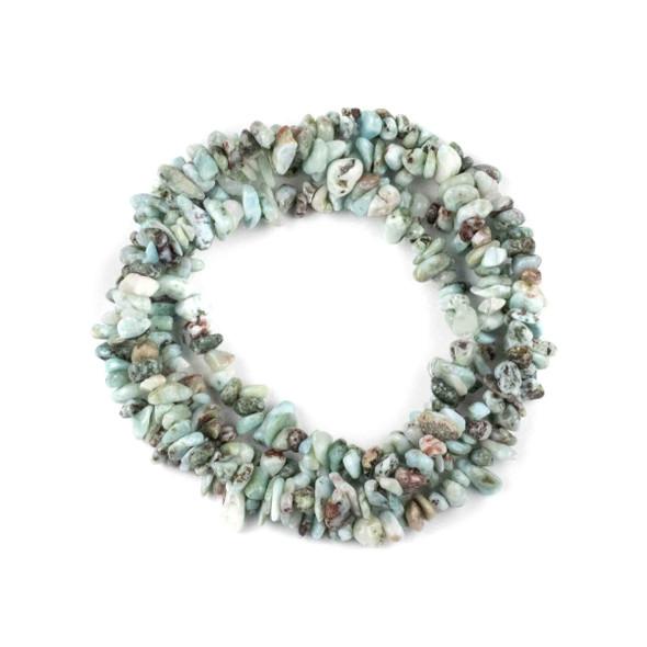 """Larimar 5-8mm Chip Beads - 34"""" circular strand"""
