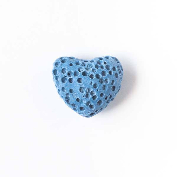 Lava Rock 10x12mm Blue Heart Essential Oil Diffusers - 3 per bag
