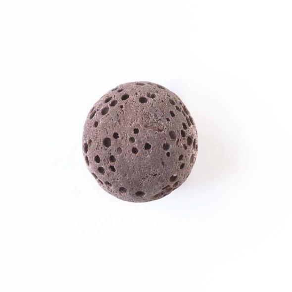 Lava Rock 12mm Brown Round Essential Oil Diffusers - 3 per bag