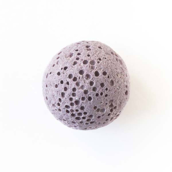 Lava Rock 16mm Dusty Purple Round Essential Oil Diffusers - 3 per bag