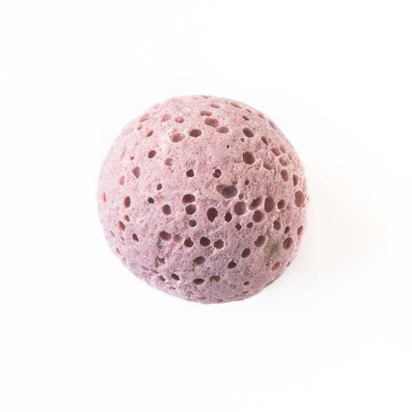 Lava Rock 16mm Rose Pink Round Essential Oil Diffusers - 3 per bag