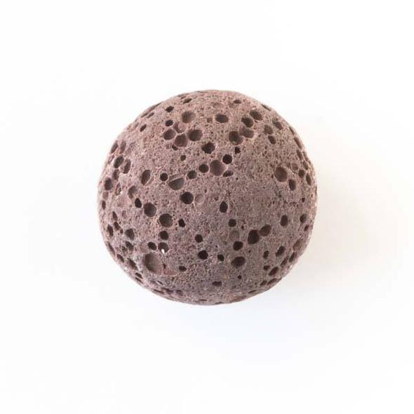 Lava Rock 16mm Brown Round Essential Oil Diffusers - 3 per bag