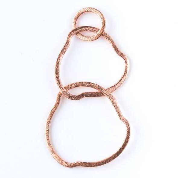 12mm Copper Hammered Hoop Link with 26mm and 30mm Free Form Links - 2 per bag