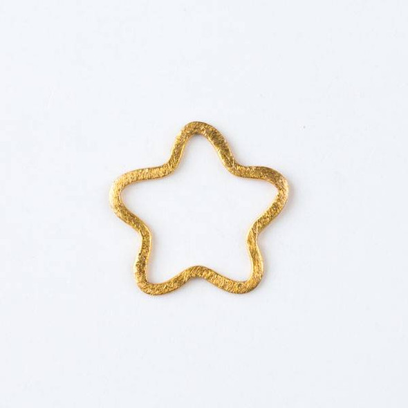 22mm Gold over Copper Hammered Star Links - 2 per bag