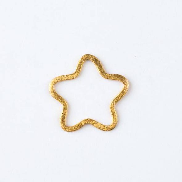 22mm Gold over Copper Hammered Star Links - 2 per bag