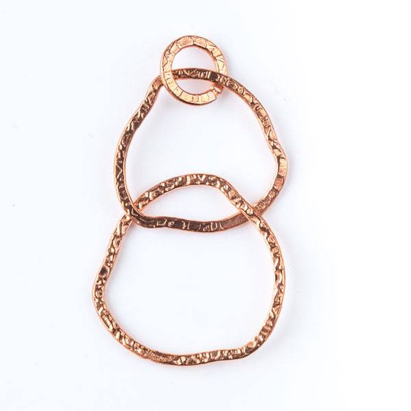 10mm Copper Textured Hoop Link with 26mm and 31mm Free Form Links - 2 per bag