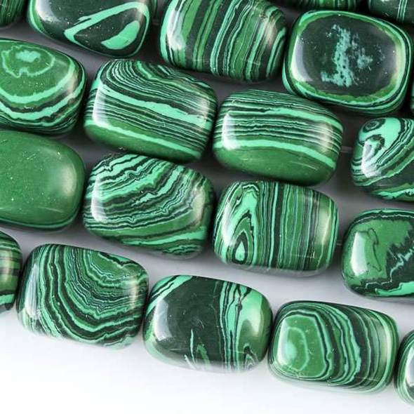 Synthetic Malachite 10x14mm Nugget Beads - approx. 8 inch strand, Set A