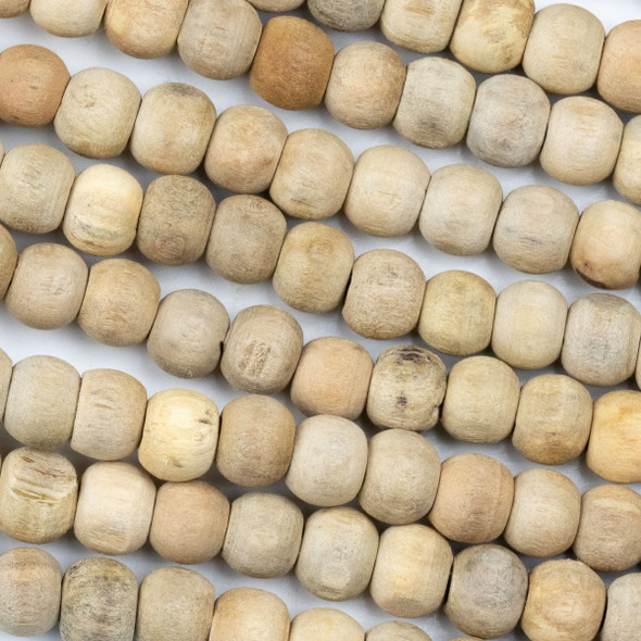 Natural Maple Wood 8mm Round Beads - 16 inch strand
