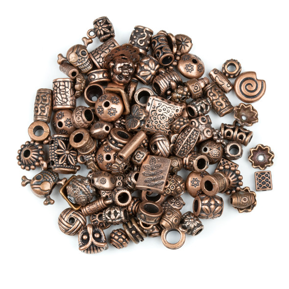 Pewter Vintage Copper 100 Piece Bead Mix