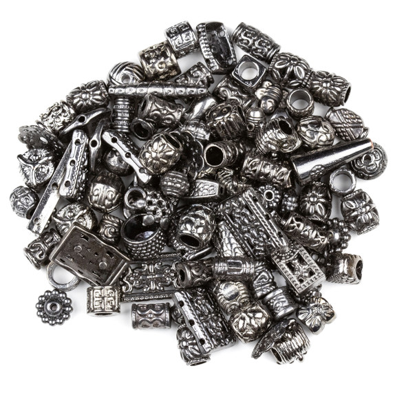 Pewter Gun Metal 100 Piece Mix