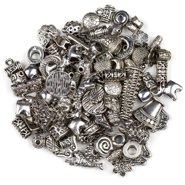 Silver Pewter 100 Piece Mix