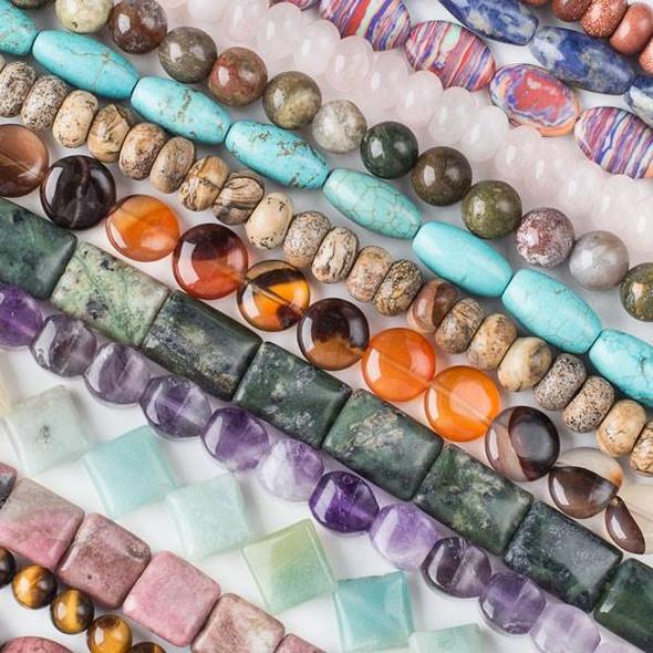 Gemstone Set A - Mix of 50 8 Inch Strands