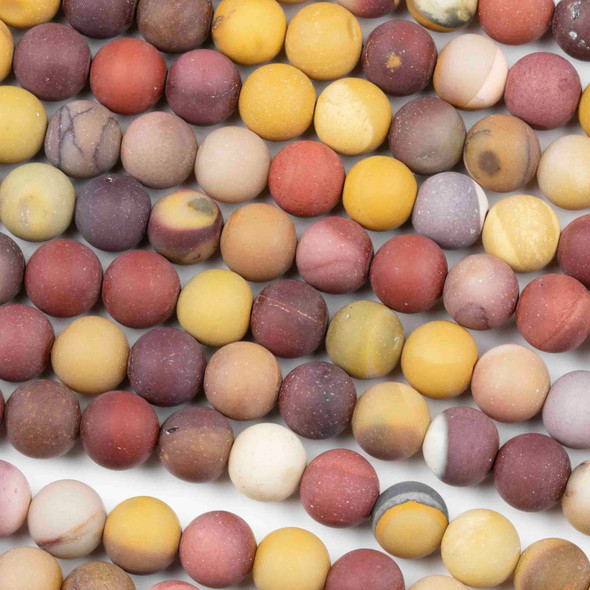 Matte Mookaite 8mm Round Beads - 16 inch strand