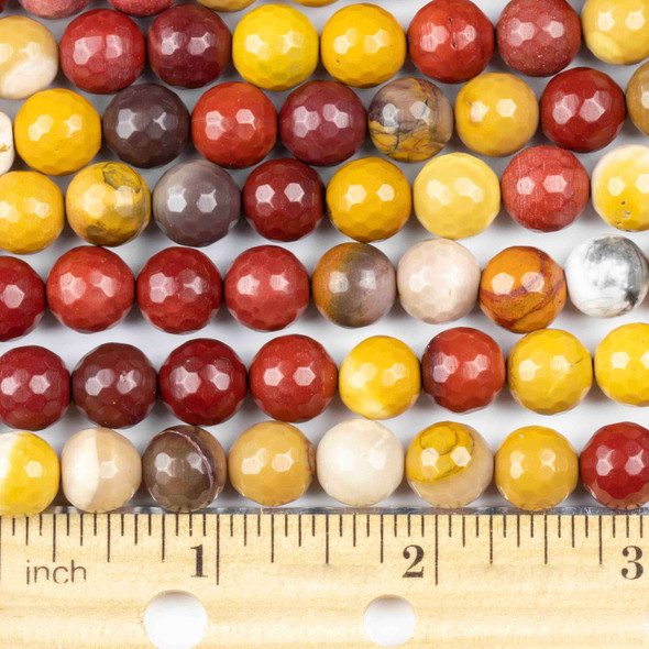 Mookaite 10mm Faceted Round Beads - approx. 8 inch strand, Set B