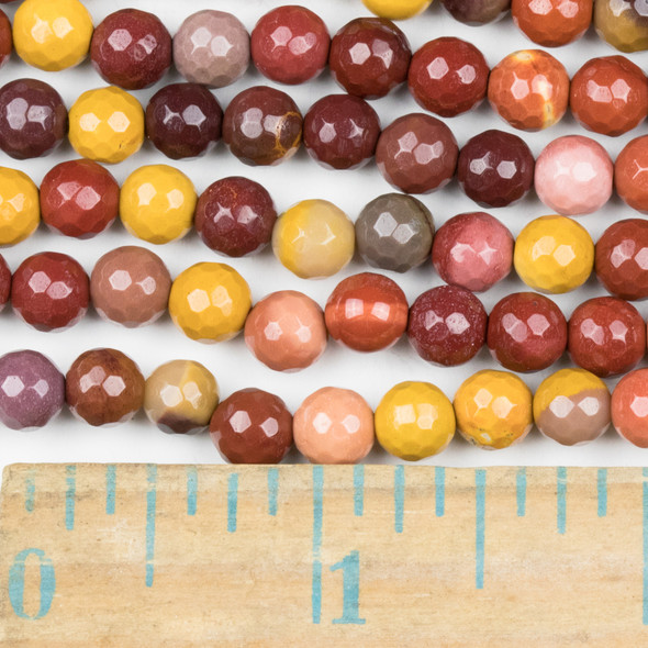 Mookaite 6mm Faceted Round Beads - approx. 8 inch strand, Set B