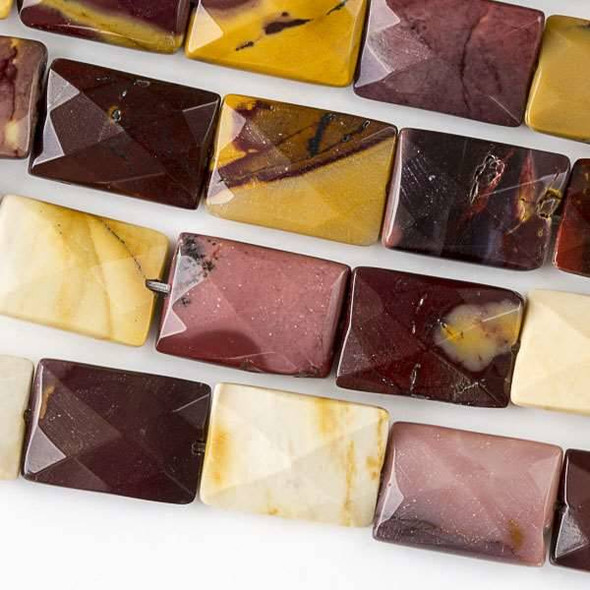 Mookaite 10x14mm Faceted Rectangle Beads - approx. 8 inch strand, Set B