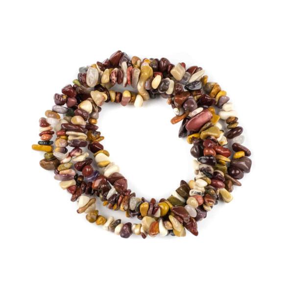 "Mookaite 5-8mm Chip Beads - 34"" circular strand"